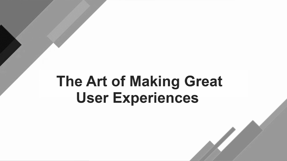 The Art of Creating Great Digital User Experiences